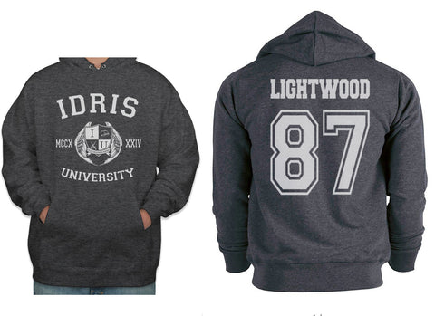 Lightwood 87 Idris University Unisex Pullover Hoodie Dark Heather