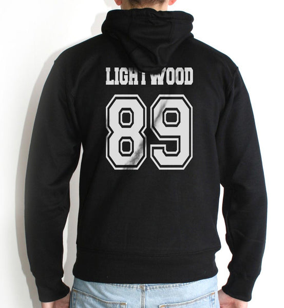 Lightwood 89 On BACK Idris University Unisex Pullover Hoodie - Meh. Geek - 2