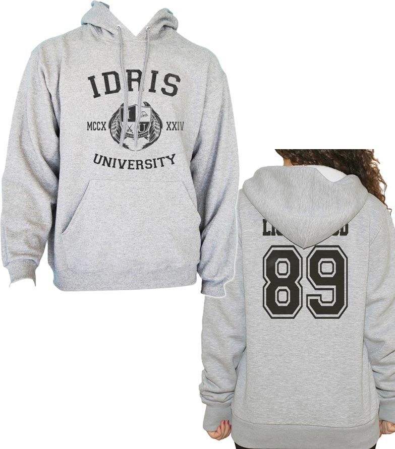 Lightwood 89 Idris University Unisex Pullover Hoodie Light Steel