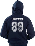 Lightwood 89 On BACK Idris University Unisex Pullover Hoodie - Meh. Geek - 4