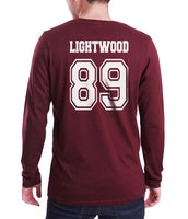 Lightwood 89 Idris University Long Sleeve T-shirt for Men Maroon - Meh. Geek - 3