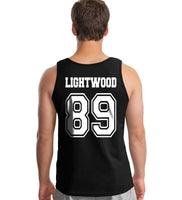 Lightwood 89 Idris University Men Tank Top Black