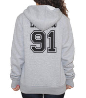 Lightwood 91 Idris University Unisex Pullover Hoodie Light Steel