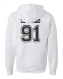 Lightwood 91 Idris University Unisex Pullover Hoodie White