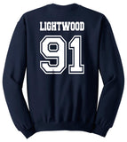 Lightwood 91 Idris University Unisex Crewneck Sweatshirt Navy - Meh. Geek - 3