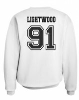 Lightwood 91 On BACK Idris University Unisex Crewneck Sweatshirt - Meh. Geek - 2