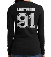 Lightwood 91 On BACK Idris University Long sleeve T-shirt for Women - Meh. Geek - 4