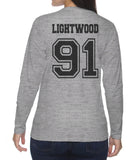 Lightwood 91 On BACK Idris University Long sleeve T-shirt for Women - Meh. Geek - 1