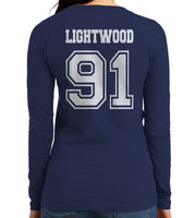 Lightwood 91 On BACK Idris University Long sleeve T-shirt for Women - Meh. Geek - 2