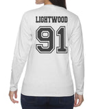 Lightwood 91 On BACK Idris University Long sleeve T-shirt for Women - Meh. Geek - 3