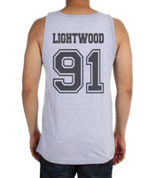 Lightwood 91 On BACK Idris University Men Tank Top