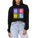 Little Mix All Logo Cropped Hoodie
