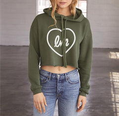 Little Mix Love Logo Cropped Hoodie