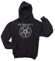 Live Deliciously 1 | Black Phillip | The Witch | Unisex Pullover Hoodie