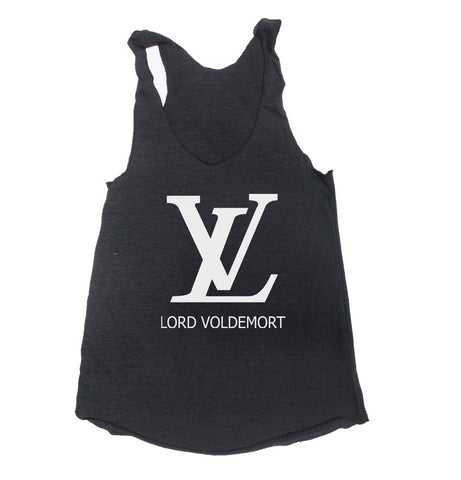 Lord Voldemort LV Triblend Racerback Women Tank Top