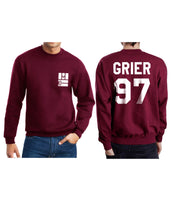 Grier 97 on BACK Magcon Boys Logo Pocket on FRONT Crewneck Sweatshirt - Meh. Geek