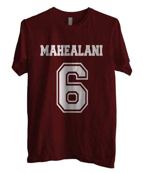 Mahealani 6 on front Beacon Hills Lacrosse Wolf Unisex T-shirt Men