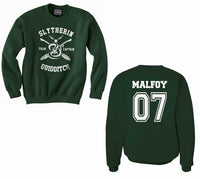Malfoy 07 Slytherin CAPTAIN Quidditch Team Unisex Crewneck Sweatshirt (Adult) PA New