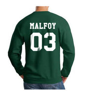 Malfoy 03 White Ink on Back Harry Potter Unisex Crewneck Sweatshirt - Meh. Geek