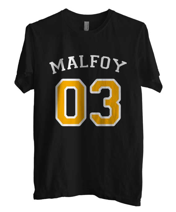 Malfoy 03 With Yellow on front Harry Potter Men T-shirt