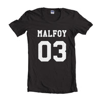 Malfoy 03 White Ink on front Harry Potter T-shirt Women