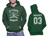 Malfoy 03 Slytherin SEEKER Quidditch team Unisex Pullover Hoodie PA New