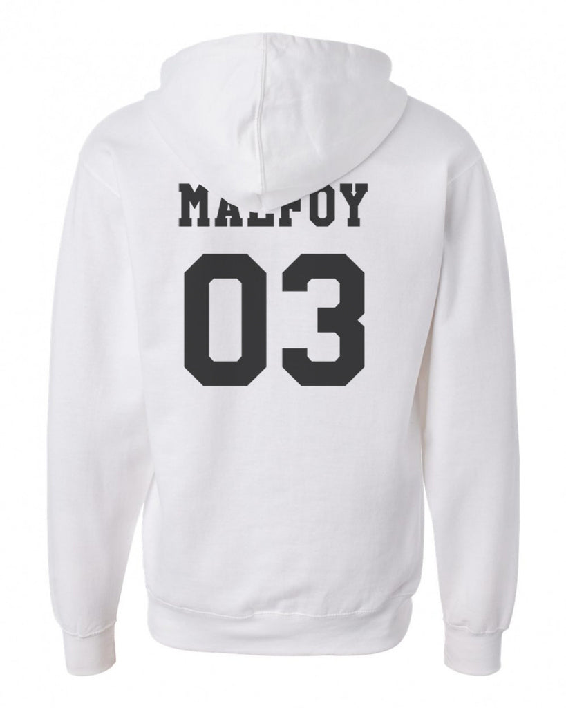 Malfoy 03 Black Ink on BACK Harry Potter Unisex Pullover Hoodie - Meh. Geek