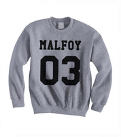Malfoy 03 on Front Harry Potter Unisex Crewneck Sweatshirt Adult