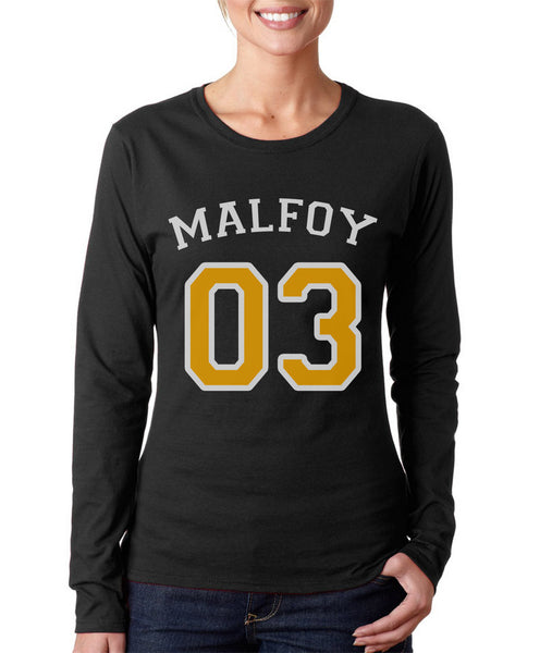 Malfoy 03 YELLOW Ink Harry potter Long sleeve T-shirt for Women