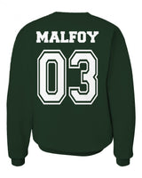 Malfoy 03 Slytherin CAPTAIN Quidditch Team Unisex Crewneck Sweatshirt (Adult) PA New