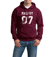 Malfoy 07 White Ink on FRONT Harry Potter Unisex Pullover Hoodie - Meh. Geek