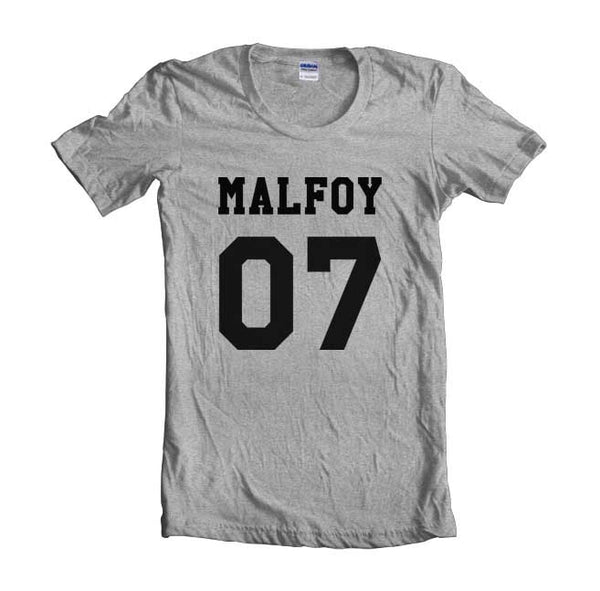 Malfoy 07 Black Ink on front Harry Potter T-shirt Women