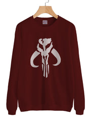 The Mandalorian Skull Logo Unisex Crewneck Sweatshirt / Sweater / Jumper Adult