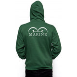 Marine White Ink on BACK Unisex Pullover Hoodie - Meh. Geek