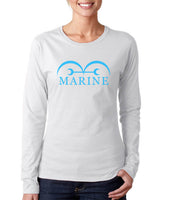 Marine One Piece Long sleeve T-shirt for Women
