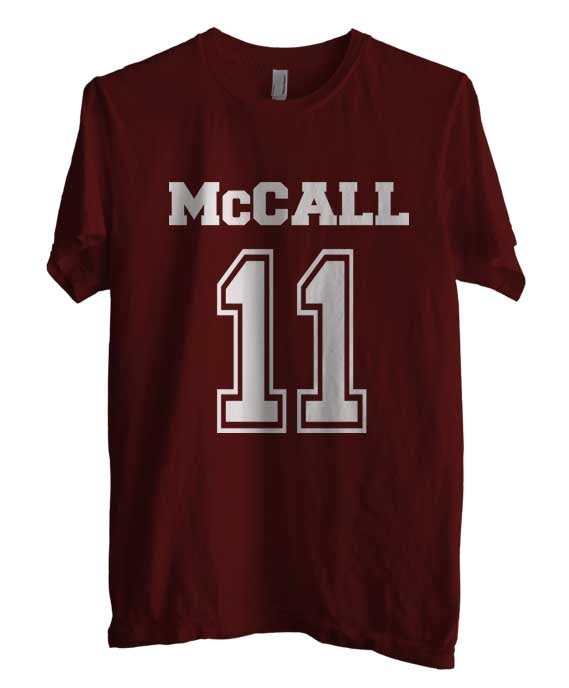Mccall 11 on front Beacon Hills Lacrosse Wolf T-shirt Men