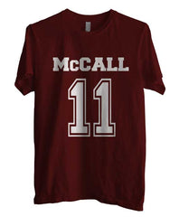 Mccall 11 on front Beacon Hills Lacrosse Wolf Unisex T-shirt Men - Meh. Geek