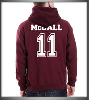 MCCALL 11 on back Beacon hills lacrosse on front Scott Mccall Teen Wolf Pullover Hoodie - Meh. Geek - 2