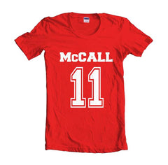 Mccall 11 printed on front only Beacon Hills Lacrosse Wolf Women T-shirt
