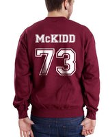 Mckidd 73 White Ink on Back Kevin Mckidd Greys Anatomy Unisex Crewneck Sweatshirt - Meh. Geek