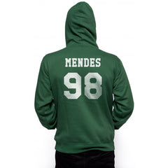 Mendes 98 White Ink on BACK Shawn Peter Raul Mendes Unisex Pullover Hoodie - Meh. Geek