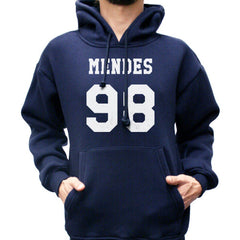 Mendes 98 White Ink on FRONT Shawn Peter Raul Mendes Unisex Pullover Hoodie - Meh. Geek