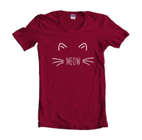 Meow Cat on Front Women T-shirt