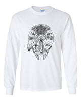Millenium Falcon Logo Superhero Long Sleeve T-shirt for Men - Meh. Geek