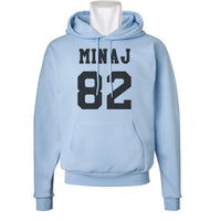 Minaj 82 Black Ink on FRONT Nicki Minaj Unisex Pullover Hoodie - Meh. Geek