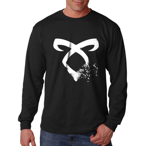Mortal Instrument Bird Long Sleeve T-shirt for Men - Meh. Geek