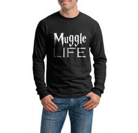 Muggles Life Harry Potter Long Sleeve T-shirt for Men - Meh. Geek - 4