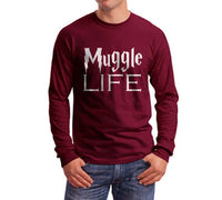 Muggles Life Harry Potter Long Sleeve T-shirt for Men - Meh. Geek - 1