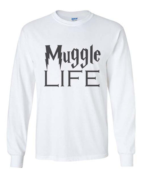 Muggles Life Harry Potter Long Sleeve T-shirt for Men - Meh. Geek - 3