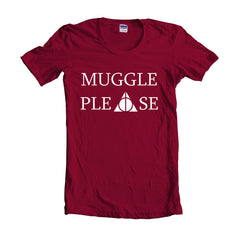 Muggle Please Harry Potter Unisex T-shirt Women - Meh. Geek